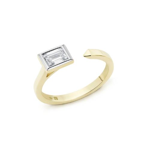 Lab-Grown Diamond Mini Baguette Open Top Ring.