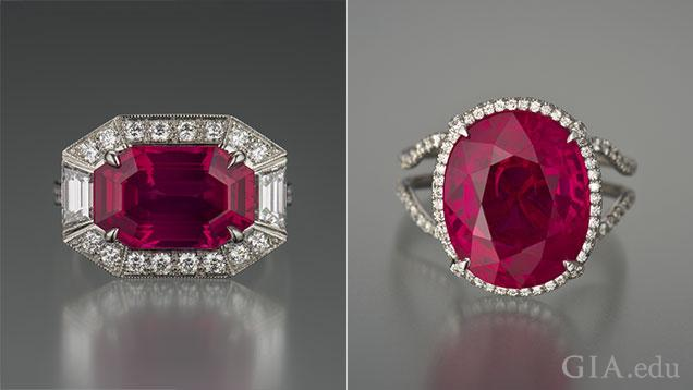 Red Spinel Ring and Burma Ruby Ring.