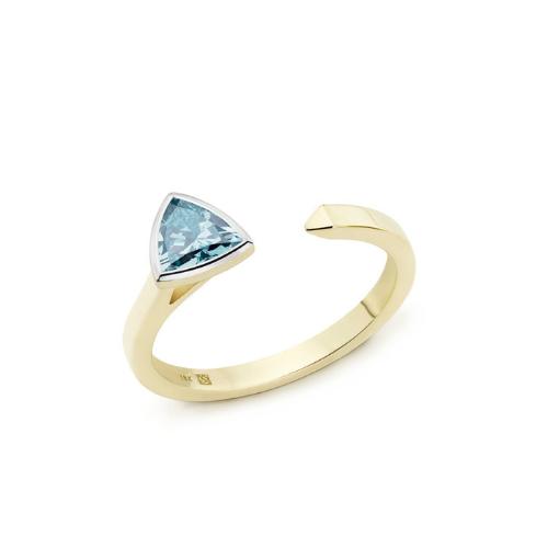 Lab-Grown Diamond Mini Trillion Linear Ring.