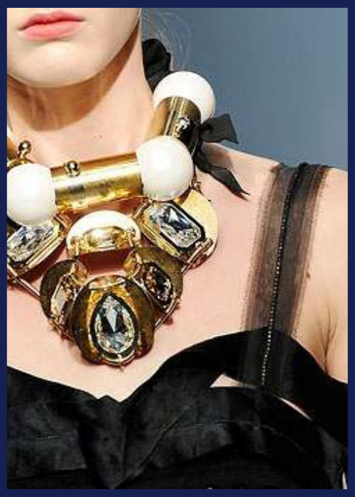 Avant-Garde Chunky Metal And Gem Jewelry for Lanvin 2009.
