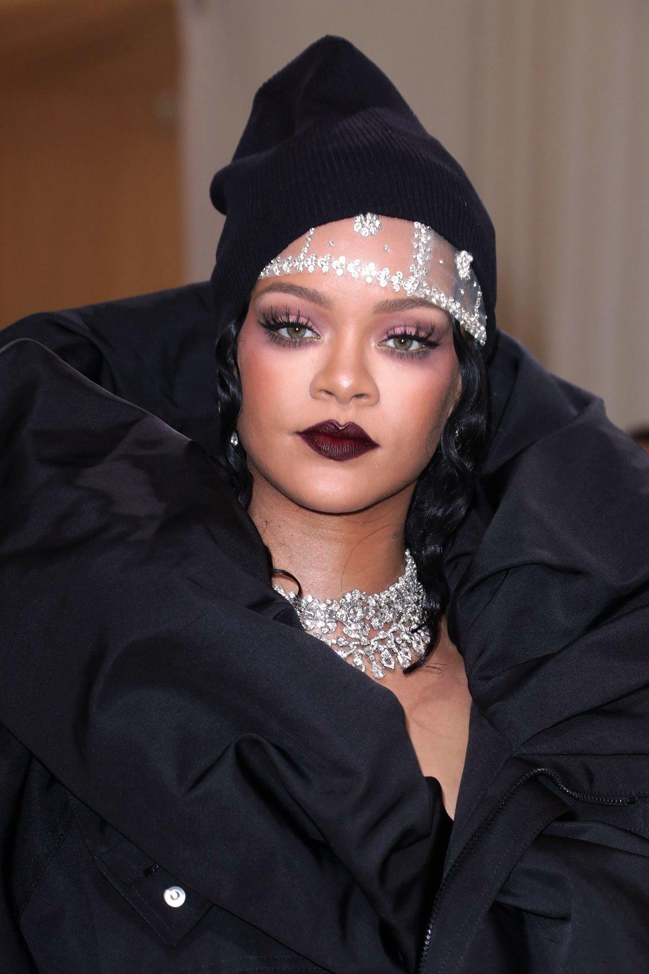 Rihanna wearing Bulgari.