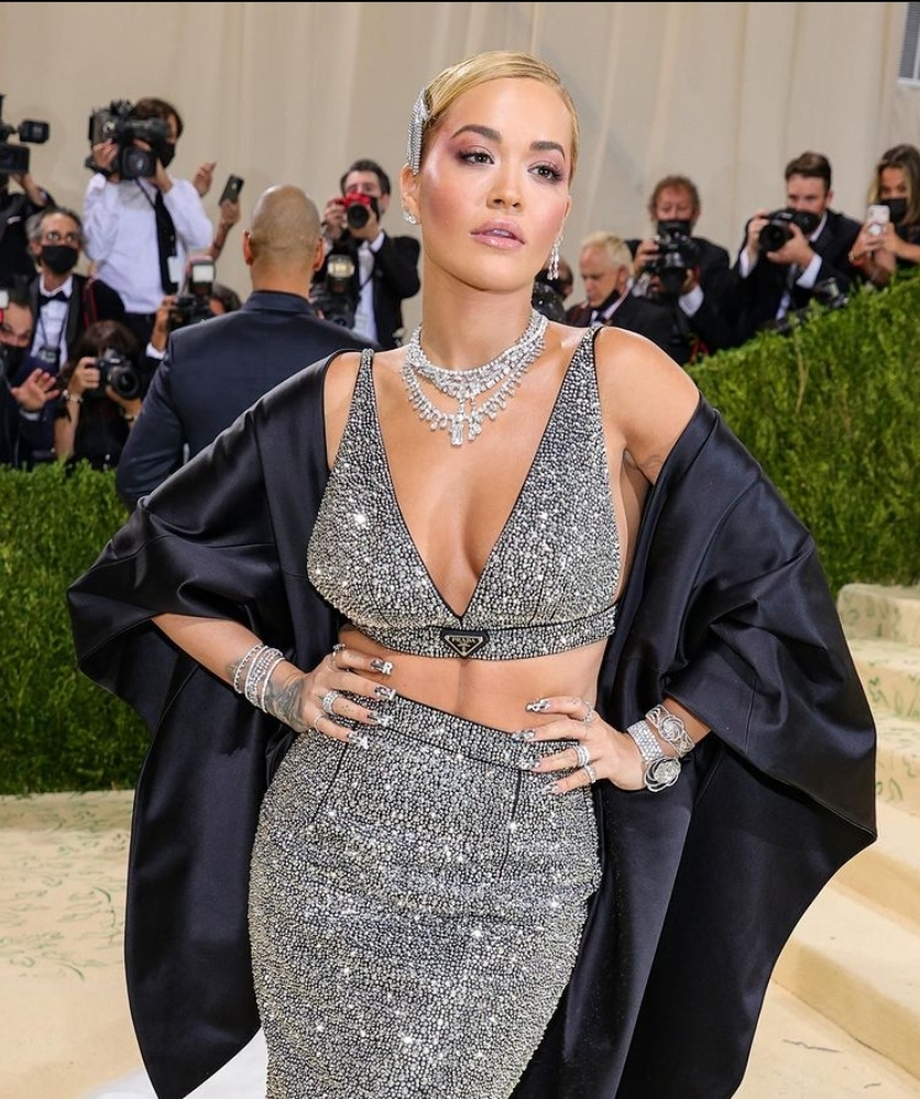Rita Ora wearing DeBeers.