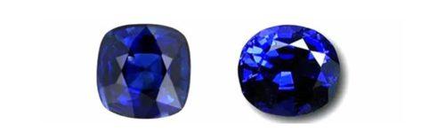 Blue gemstones.