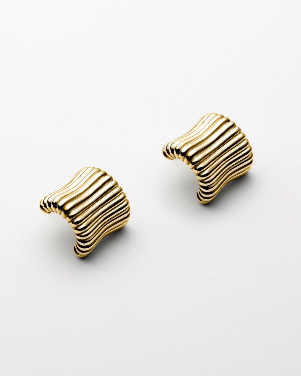 Gold Ridge Earrings.