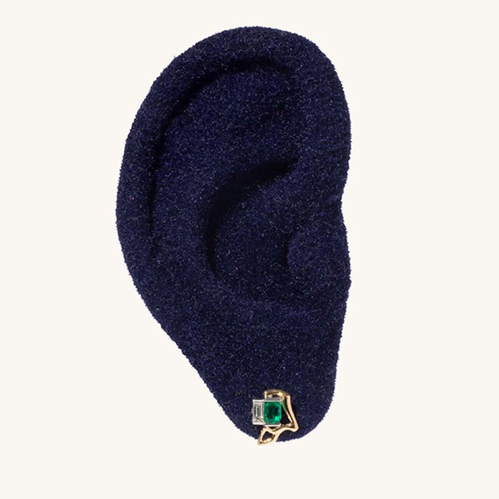 Kintsugi Emerald Earring.