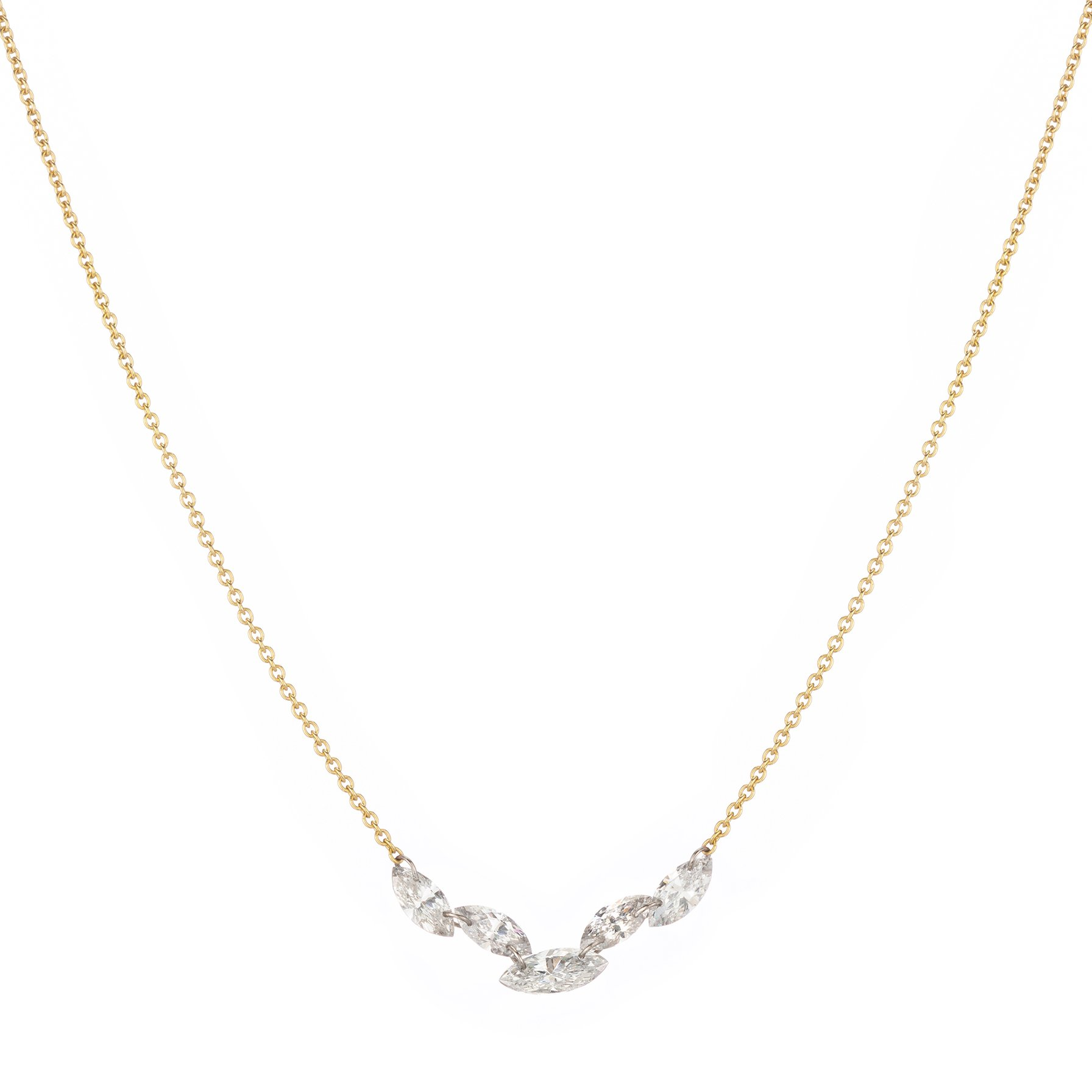 Marquise Cluster Necklace.