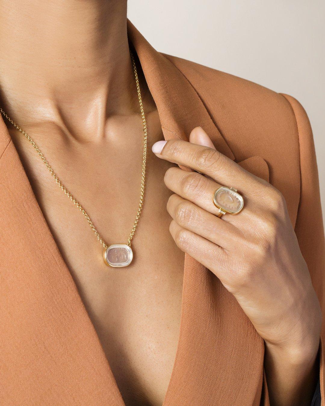 Eternity Intaglio Seal Necklace.